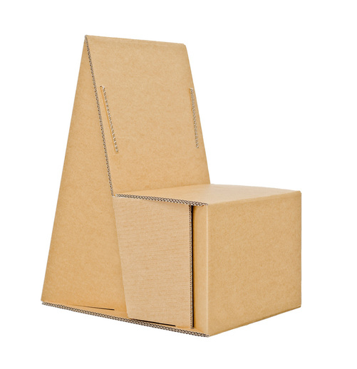This Cardboard Chair Is Sure To Grab Attention With Its Eco Friendly Appearance And Innovative Design For Use At Outdoor Events